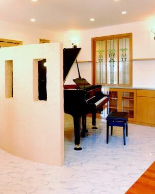A/住宅(愛知県)(品番TW-15色変更&デザイン追加) B/新築 C/リビング・室内明かり取り窓