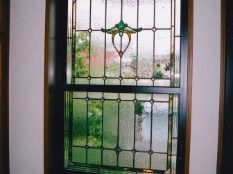 玄関ホール 上げ下げ窓 ペアガラス内蔵