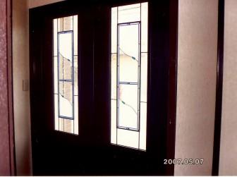北海道日高郡 O様邸 玄関引き違い戸 セミオーダーTW-13(色変更)