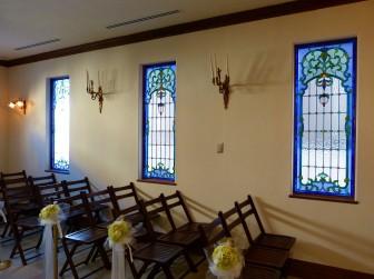 (41)岡山県津山市 結婚式場モンレーヴ様① チャペル・窓に多数設置
