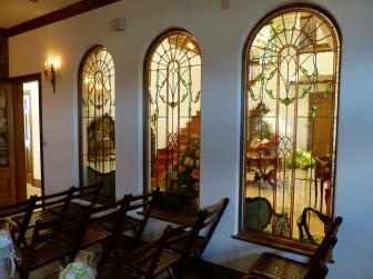 (40)岡山県津山市 結婚式場モンレーヴ様② チャペル アーチ型窓・窓に多数設置