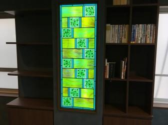 大阪府八尾市 那和祥史司法書士事務所様 LED内蔵ステンドグラス