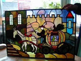 (8)旧家のステンドグラスの修復&補強