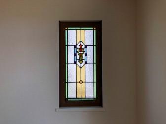 (15)旧家のステンドグラス修復&補強&木枠新調交換&設置工事 兵庫県伊丹市
