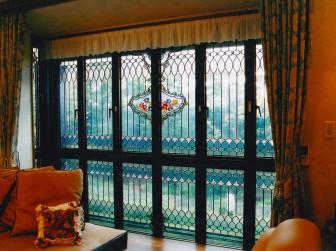 大阪府豊中市 16枚セット窓 絵付けステンドグラス 積水ハウス