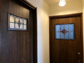 (97)大阪府箕面市W様邸② 既製品ドアくり抜き加工 施工前後比較写真