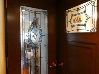 (102)京都府京都市M様邸① マンション室内ドア絵付けステンドグラス ・ドアに多数設置