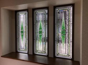 (114)兵庫県三木市S様邸 はめ殺し3連窓リビング 施工前後比較写真・目隠し対策