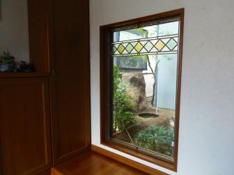 (125)兵庫県西宮市N様邸 玄関ホールはめ殺し窓(地窓)&吹抜け窓