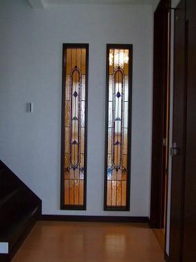 A/住宅(大阪府)(品番TW-18色変更) B/新築(へーベルハウス) C/玄関ホール・室内明り取り窓