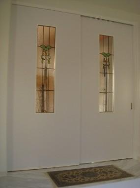 玄関からリビングへの引き違いドア  セミオーダー(品番TW-17)