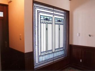 大阪府高槻市 N様邸 玄関ホール はめ殺し窓 ステンドグラス移設&設置 施工前後比較写真