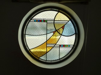 大阪府大阪市 リビング 丸窓&室内ドア